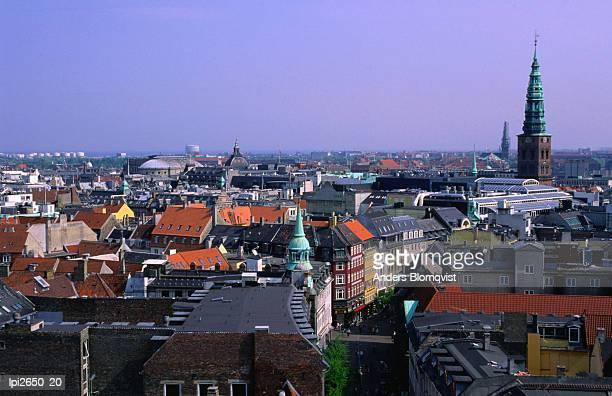 Downtown cityscape, Copenhagen, Denmark, Europe