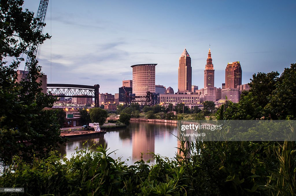 Downtown Cleveland : Foto stock