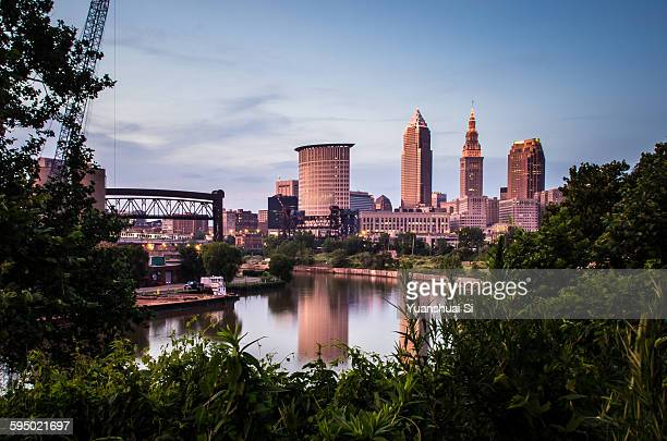 downtown cleveland - cleveland ohio stock pictures, royalty-free photos & images