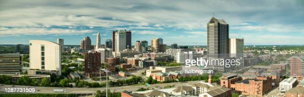 downtown columbus, ohio - aerial - columbus ohio stock pictures, royalty-free photos & images