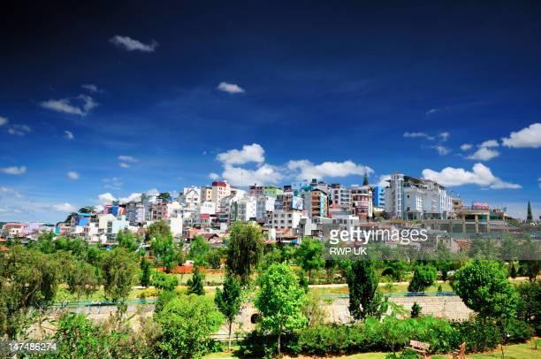 Downtown Dalat on Hill, Central Highlands, Vietnam