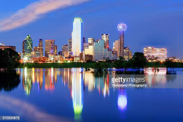 Downtown Dallas Texas with the Trinity River