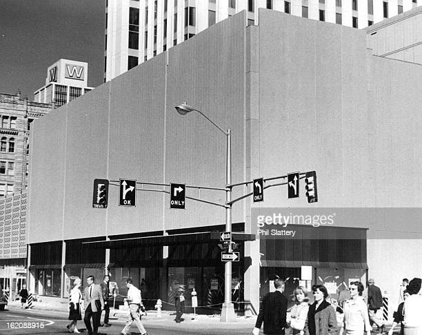 NOV 1 1965 NOV 3 1965 Downtown Denver's Newest Building Construction barricades were removed this week at the new Fashion Bar Building at 16th St and...