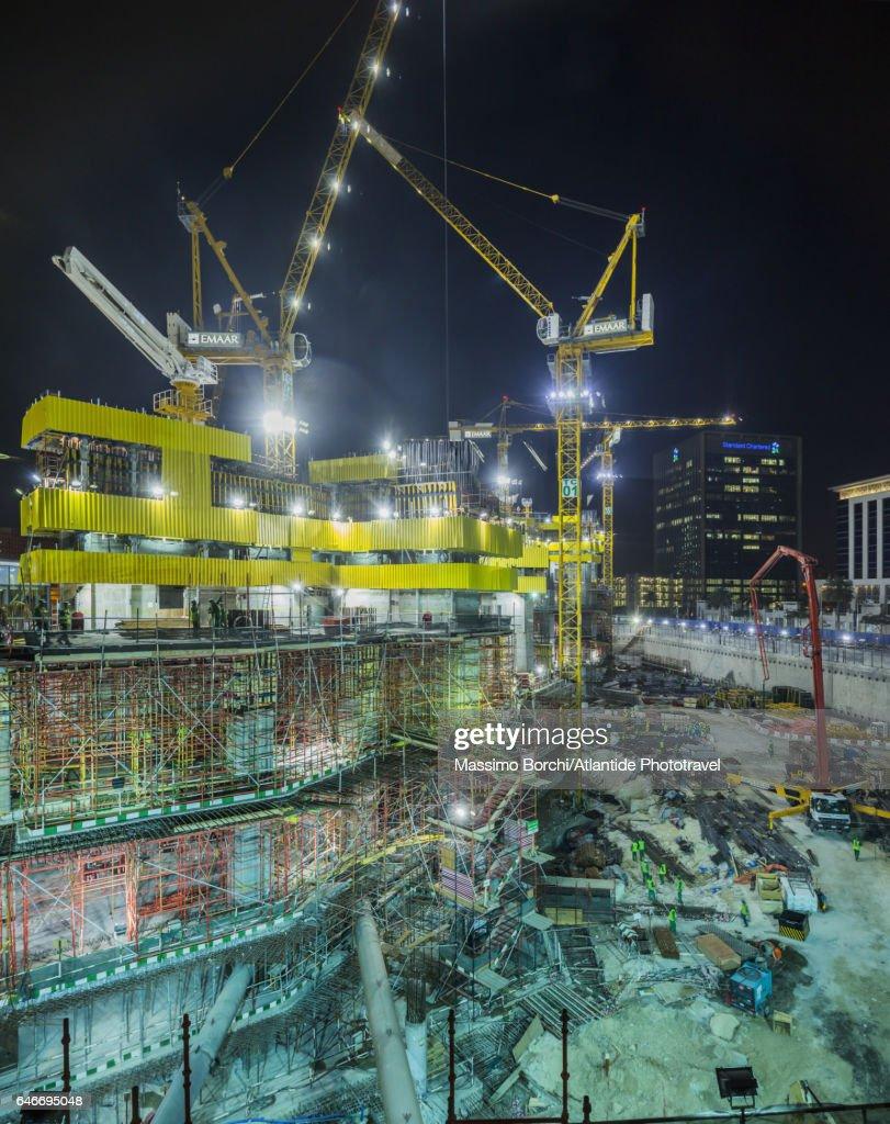 Downtown Dubai, building site : Stock-Foto