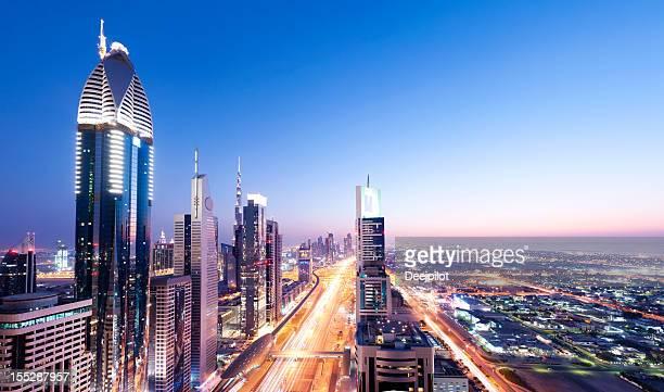 Downtown Dubai City Skyline in the United Arab Emirates