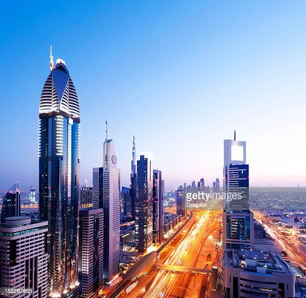 Skyline der Innenstadt von Dubai, VAE
