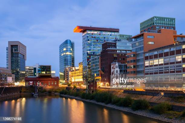 downtown, dusseldorf, germany - messe düsseldorf stock pictures, royalty-free photos & images