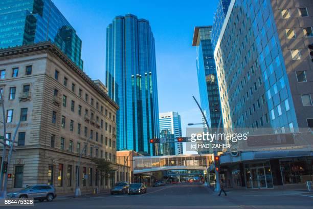 downtown edmonton | alberta | canada - edmonton stock pictures, royalty-free photos & images