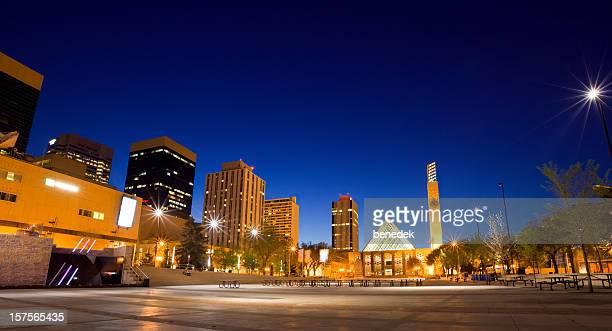 downtown edmonton, city hall - edmonton stock pictures, royalty-free photos & images