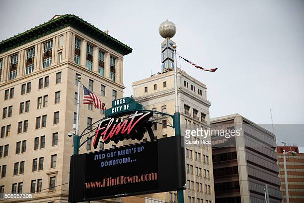 Downtown Flint is shown on February 7 2016 in Flint Michigan Months ago the city told citizens they could use tap water if they boiled it first but...
