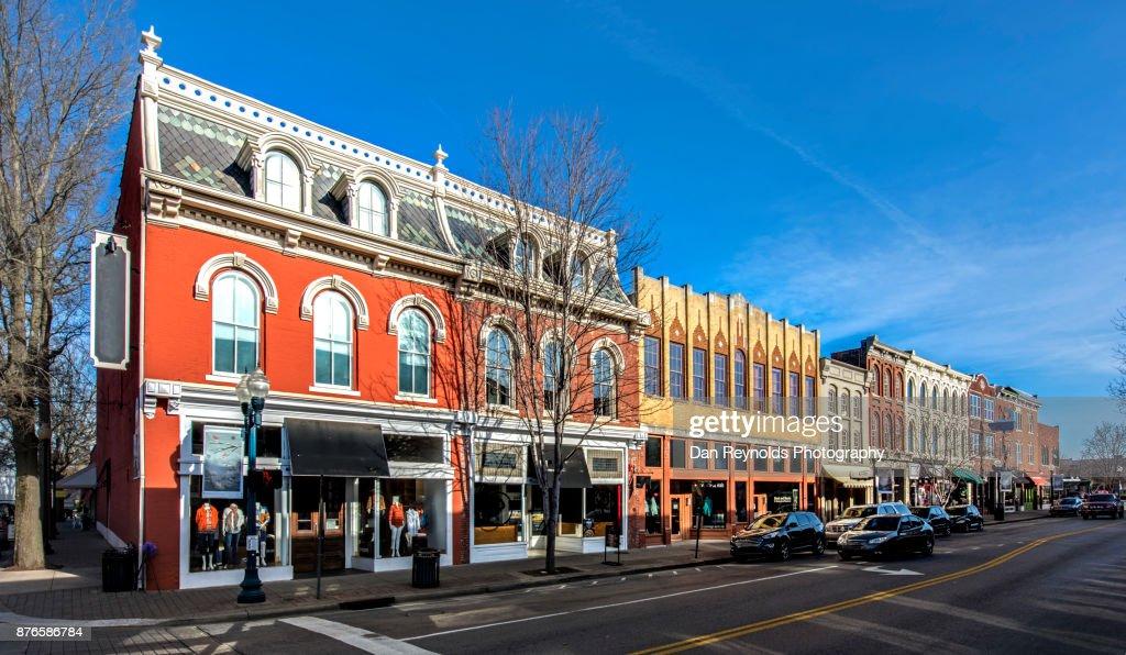 Downtown, Franklin, Tn,USA : Foto de stock