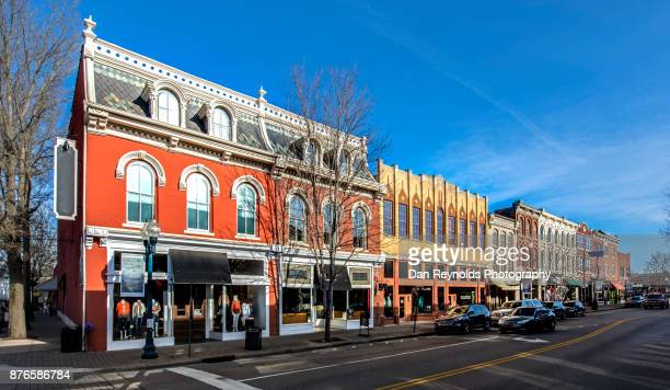 downtown, franklin, tn,usa - tennessee stock pictures, royalty-free photos & images