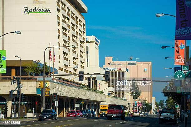 Downtown Fresno street scene