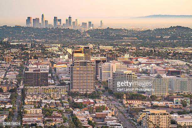 Downtown Glendale And Los Angeles Skylines