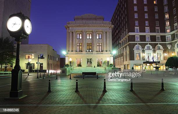 downtown greenville south carolina - greenville south carolina stock photos and pictures