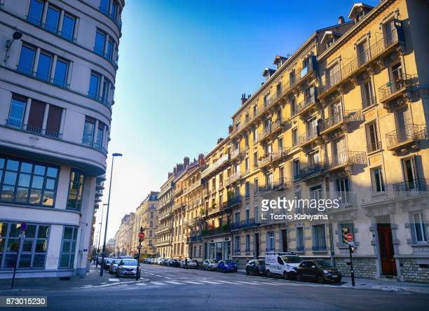 downtown grenoble, france - grenoble stock pictures, royalty-free photos & images