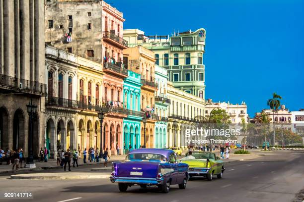 downtown havana city, cuba. - cuba photos et images de collection
