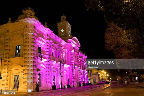 downtown hermosillo at night - sonora mexico stock photos and pictures