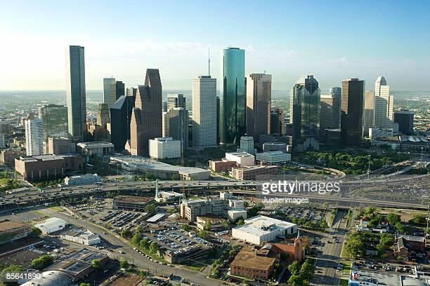 downtown houston, texas - houston stock pictures, royalty-free photos & images