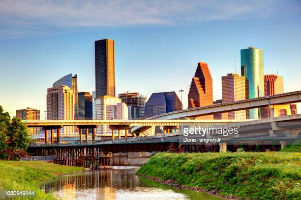 downtown houston texas skyline - texas stock pictures, royalty-free photos & images
