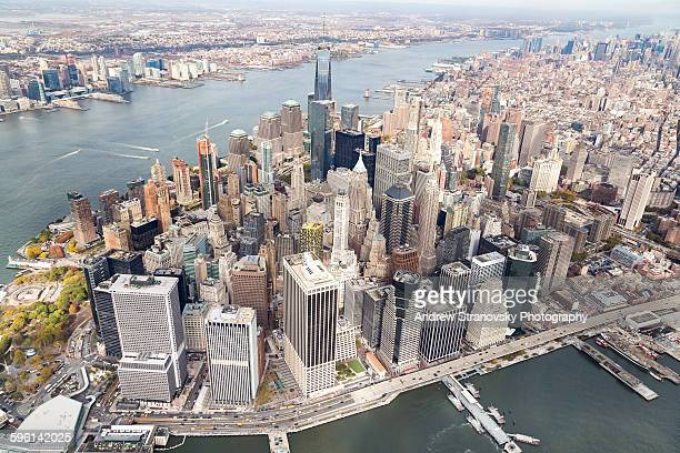downtown, hudson river, and east river - lower manhattan stock pictures, royalty-free photos & images