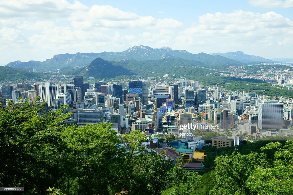Downtown in Seoul : Stock Photo