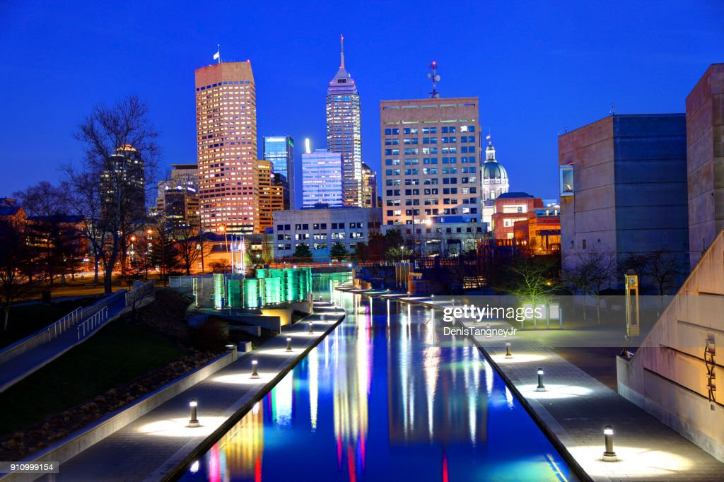 downtown indianapolis indiana skyline stock photo getty images
