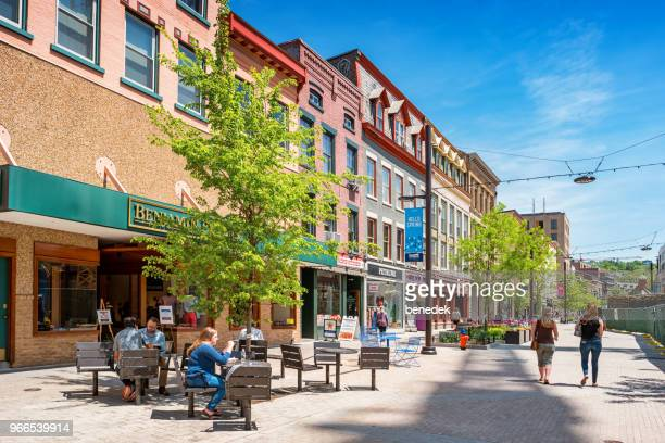 downtown ithaca new york state usa - finger lakes stock pictures, royalty-free photos & images
