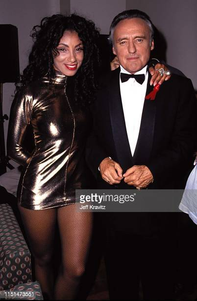Downtown Julie Brown and Dennis Hopper at the 1991 MTV Video Music Awards at in Los Angeles, California.
