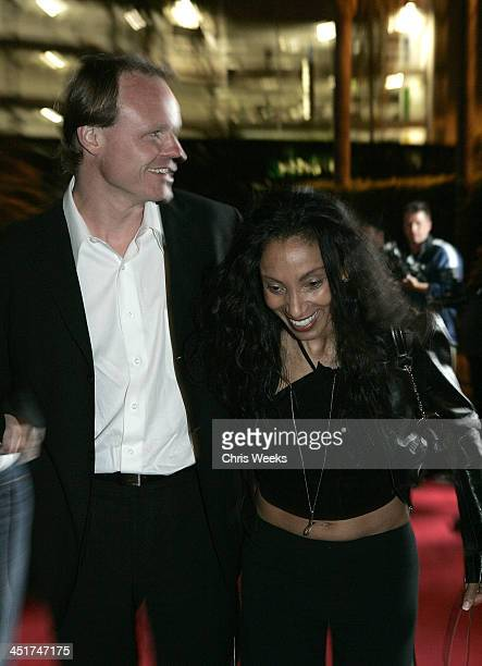 Downtown Julie Brown and guest during Paper Magazine & Jaguar Celebrate the 2005 Beautiful People Issue - Red Carpet at The Roosevelt Hotel in...