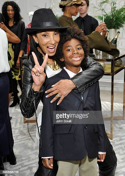 Downtown Julie Brown and Kenzo Lee Hounsou attend the opening of Kimora Lee Simmons' Beverly Hills boutique with W Magazine on December 10 2015 in...