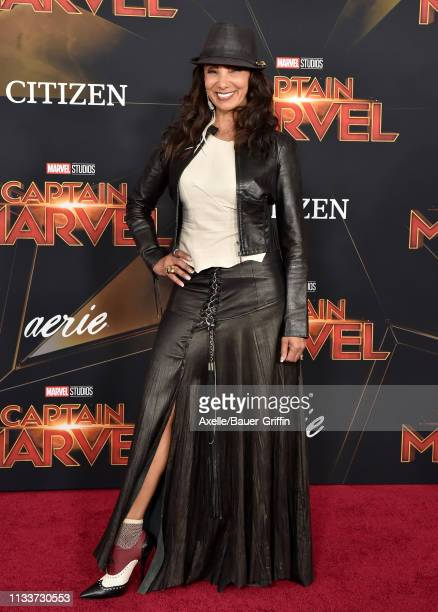 Downtown Julie Brown attends Marvel Studios 'Captain Marvel' Premiere on March 04, 2019 in Hollywood, California.