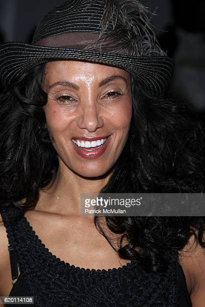 Downtown Julie Brown attends Nicole Miller Fashion Show at Salon on February 1, 2008 in New York City.