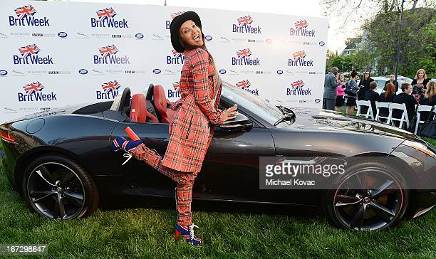 Downtown Julie Brown attends the BritWeek Los Angeles Red Carpet Launch Party with Official Vehicle Sponsor Jaguar on April 23, 2013 in Los Angeles,...