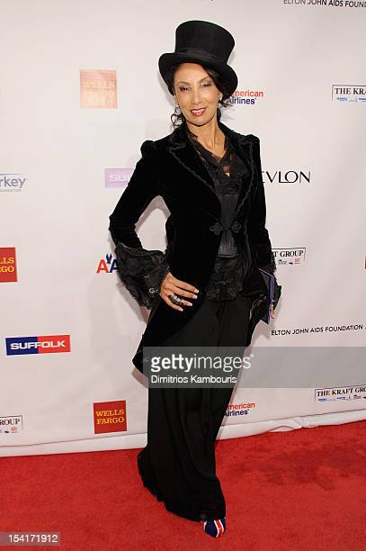 Downtown Julie Brown attends the Elton John AIDS Foundation's 11th Annual An Enduring Vision Benefit at Cipriani Wall Street on October 15 2012 in...