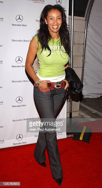 Downtown Julie Brown during Mercedes-Benz Fall 2004 Fashion Week at Smashbox Studios - Day 3 - Arrivals at Smashbox Studios in Culver City,...