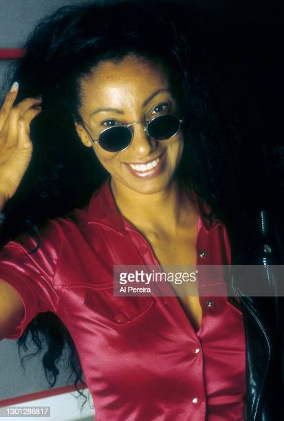 Downtown Julie Brown stops by the Hot 97 Radio Studios on November 1, 1995 in New York City.