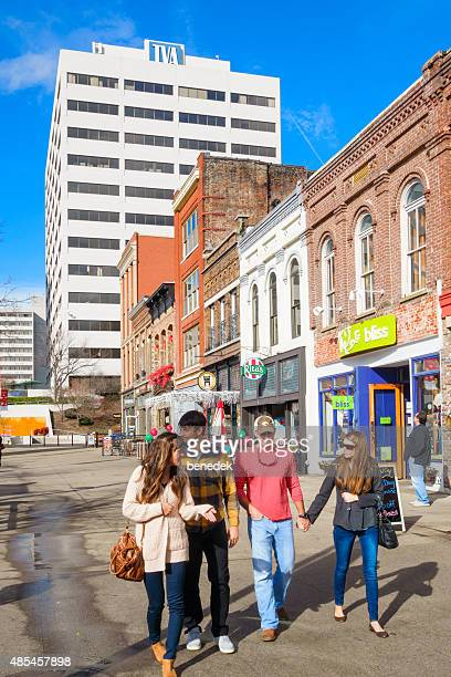 Downtown Knoxville Tennessee Couples Walk at Market Square