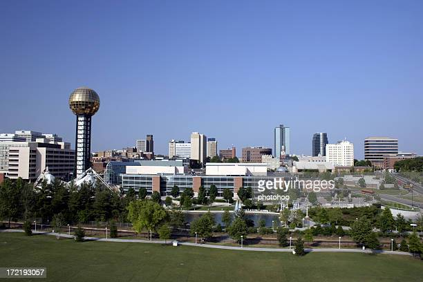 downtown knoxville tn skyline - knoxville tennessee stock pictures, royalty-free photos & images