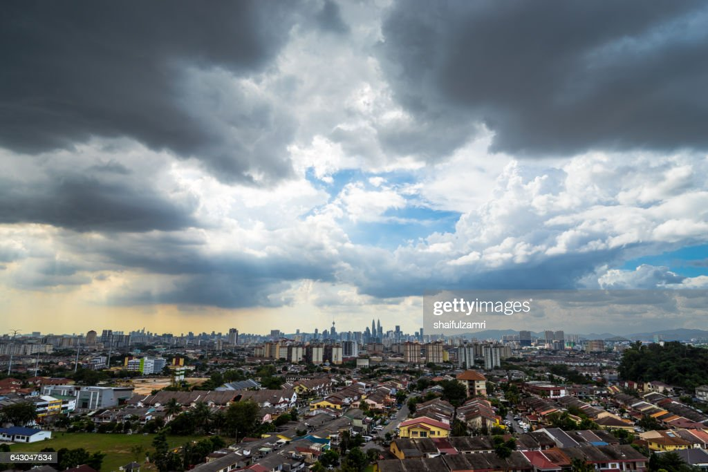 Downtown Kuala Lumpur during cloudy day : Stock Photo