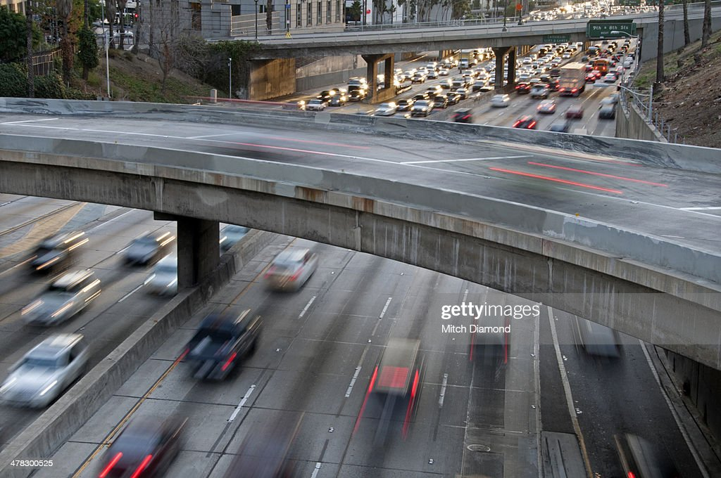 Downtown La Motors >> Downtown La Freeways High Res Stock Photo Getty Images