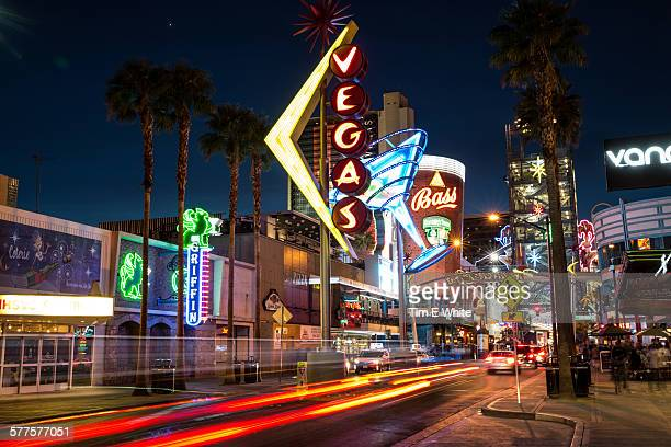 Downtown Las Vegas at Night, USA