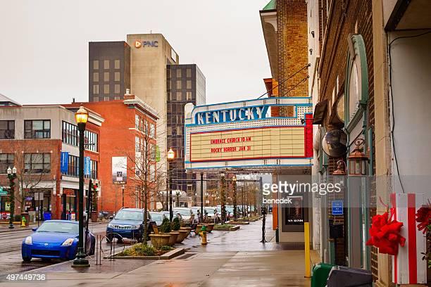 downtown lexington kentucky theatre usa - lexington kentucky stock pictures, royalty-free photos & images