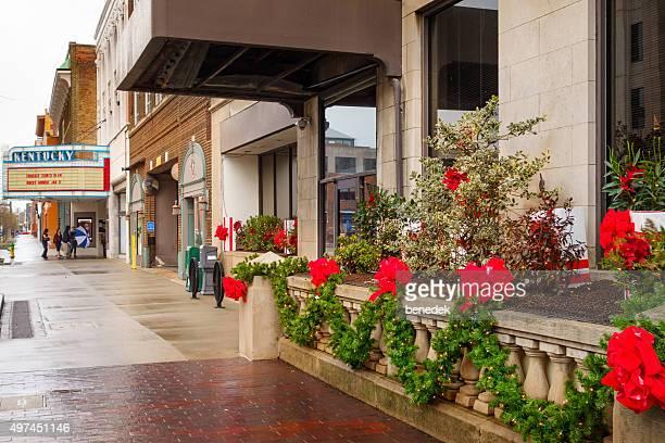 downtown lexington kentucky usa christmas - lexington kentucky stock pictures, royalty-free photos & images