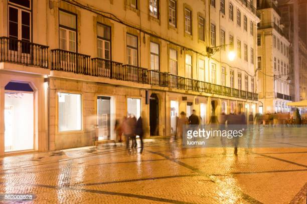 Downtown Lisbon in the evening
