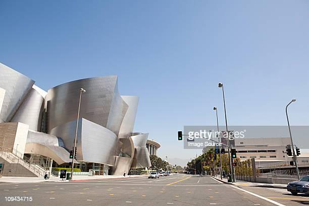 downtown la looking towards disney concert hall, los angeles county, california, usa - los angeles stock-fotos und bilder