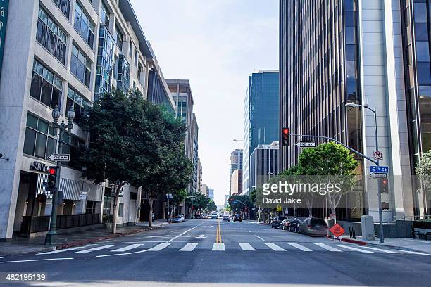 downtown los angeles, california, usa - high street stock pictures, royalty-free photos & images