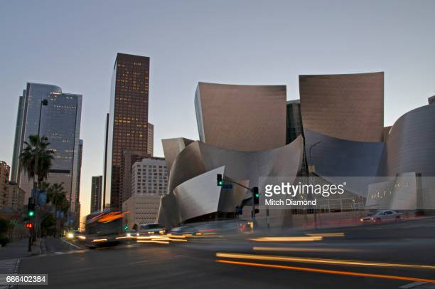 Downtown Los Angeles Evening by the Disney Concert Hall