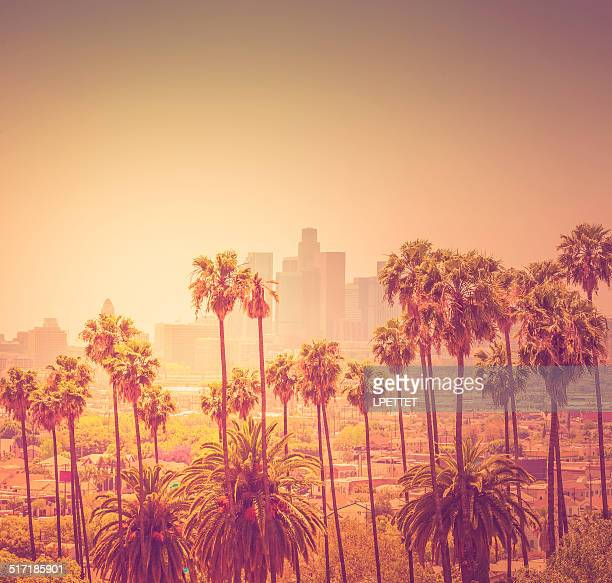 Downtown Los Angeles photographed at sunset