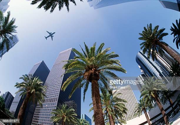 downtown los angeles - grand angle photos et images de collection